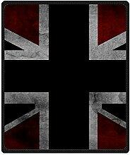 DOUBEE Fleece Decke England Flagge Pattern Blanket Kuscheldecke Wolldecke 127cm X 152cm