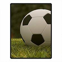 DOUBEE Fleece Decke Fußball Soccer Pattern Blanket Kuscheldecke Wolldecke 127cm X 152cm