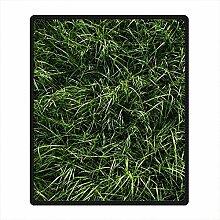 DOUBEE Fleece Decke Gras Grass Pattern Blanket Kuscheldecke Wolldecke 127cm X 152cm