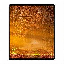 DOUBEE Fleece Decke Herbst Autumn Pattern Blanket Kuscheldecke Wolldecke 127cm X 152cm