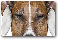 DOUBEE Generisches Design Süßer Hund Dog Fussmatte Premium Schmutzmatte Haus Fußabstreifer 46cm X 76 cm