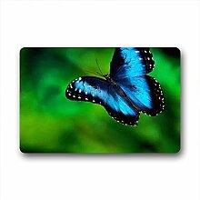 DOUBEE Generisches Schmetterling Butterfly Fussmatte Schmutzmatte Garten Nach Hause Türmatte 60cm X 40cm