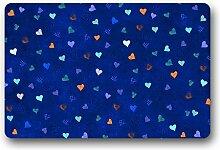 DOUBEE Liebe Love Fussmatte Premium Schmutzmatte Rechteckige Türmatte aus Garten Nach Hause 60cm X 40cm
