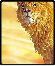 "Doubee Löwe Lion Fleece Blanket Decke Kuscheldecke Wolldecke 50"" x 60"",127cm X 152cm"