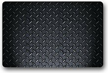 DOUBEE Metall Fussmatte Premium Schmutzmatte Rechteckige Türmatte aus Garten Nach Hause 60cm X 40cm