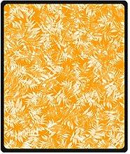 """DOUBEE Orange Leaves Maple Fleece Blanket Decke Kuscheldecke Wolldecke 50"""" x 60"""",127cm X 152cm"""