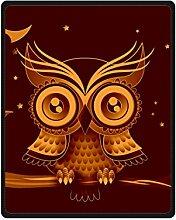Doubee Retro Owl Premium Fleece Blanket Baby Decke