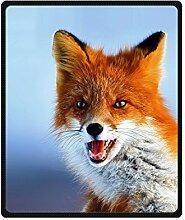 """DOUBEE Tier Fox Fleece Blanket Decke Kuscheldecke Wolldecke 50"""" x 60"""",127cm X 152cm"""
