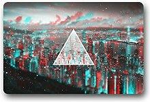 DOUBEE Triangles Fussmatte Premium Schmutzmatte Rechteckige Türmatte aus Garten Nach Hause 60cm X 40cm