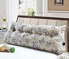 Double Bed Soft Bag Dreieckige Kissen Bett Große Kissen Rücken Kissen Pad Taille Sofa Kann abnehmbar waschbar sein ( Farbe : B1 , größe : 20*50*150cm )