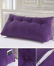 Double Bedside Kissen Sofa Big Back Dreieckige Tasche Taille Kissen Soft Bag Kissen kann abnehmbar waschbar sein ( Farbe : A5 , größe : 150*50*20cm )