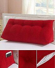 Double Bedside Kissen Sofa Big Back Dreieckige Tasche Taille Kissen Soft Bag Kissen kann abnehmbar waschbar sein ( Farbe : A3 , größe : 150*50*20cm )