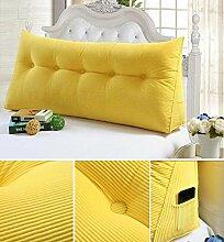 Double Bedside Kissen Soft Bag Dreieckige große Rückenlehne Bett Sofa Lange Kissen kann abnehmbare Wäsche Taille Kissen Taille ( farbe : B2 , größe : 100cm )