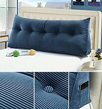 Double Bedside Kissen Soft Bag Dreieckige große Rückenlehne Bett Sofa Lange Kissen kann abnehmbare Wäsche Taille Kissen Taille ( farbe : A6 , größe : 100cm )