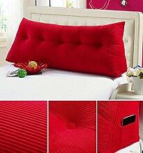 Double Bedside Kissen Soft Bag Dreieckige große Rückenlehne Bett Sofa Lange Kissen kann abnehmbare Wäsche Taille Kissen Taille ( farbe : A4 , größe : 60 )