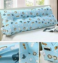Double Bedside Kissen Soft Bag Dreieckige große Rückenlehne Bett Sofa Lange Kissen kann abnehmbare Wäsche Taille Kissen Taille ( farbe : B3 , größe : 90cm )