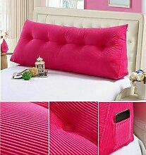 Double Bedside Kissen Soft Bag Dreieckige große Rückenlehne Bett Sofa Lange Kissen kann abnehmbare Wäsche Taille Kissen Taille ( farbe : A5 , größe : 120cm )