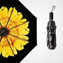 Double Layer Sun Umbrella Super Starke Sonnenschutz Sonnenschirme Vinyl Drei Fold Umbrella Sunny Umbrella Fold