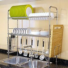 Double Layers Mehrzweck-Küchenregal,