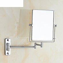 Double Push-Pull Verstärker Friseur Spiegel/rotierenden Spiegel/klappbare Spiegel/Toilette Teleskop Spiegel/Bad Wandspiegel-A