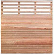 """Douglasienzaun Sichtschutz Gartenzaun Maß 180 x 180 cm (Breite x Höhe) mit Rhombuslatten Füllung aus naturbelassenem Douglasie Holz """"Eifel"""