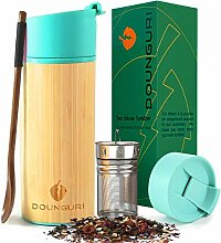 DOUNGURI Bambus-Teebecher mit Sieb, 340 ml,