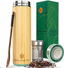 DOUNGURI Bambus-Teebecher mit Sieb,