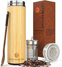 Dounguri Bambus-Teebecher mit Teesieb – 518 ml,