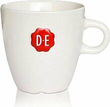 Douwe Egberts (D.E.) Senseo Porzellan Tasse 260 mlbeige mit rotem Siegel