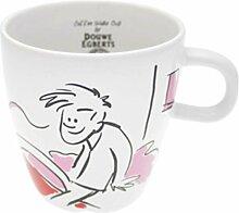 Douwe Egberts Kaffeebecher Kaffee Becher Kaffeetasse Tee Tasse Rosa-Rot 260 ml