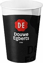 Douwe Egberts, Koffiebeker, Karton en coating, 180ml, zwart/Wi