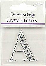 Dovecraft Kristall Aufkleber, Kunststoff, silber