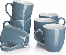 DOWAN Kaffeebecher Set, 530 ml Große Kaffee und