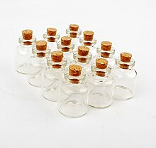 dowonsol 12PCS Glas Flaschen Sand Art Flaschen