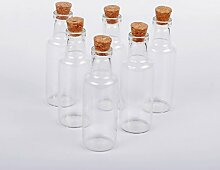 Dowonsol Glas 6pcs Sand Art Flaschen mit Kork