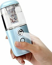 DOXUNGO Lautlos tragbare Vernebler, Ultraschall-Zerstäubung Luftbefeuchter, Automobil-Luftbefeuchter, wasserlos Auto aus das Auto Büro zu Hause Yoga Sprayer , Diffusoren (blau)