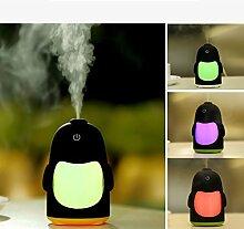 DOXUNGO Penguin Nachtlicht Luftbefeuchter Aromatherapie mute Vernebeln Luftbefeuchter, Automobil-Luftbefeuchter, tragbare Mini-LED 7-Farbwechsel mit dem Kühl Nebelbefeuchter Office Home Timing der automatischen Abschaltung (grün)