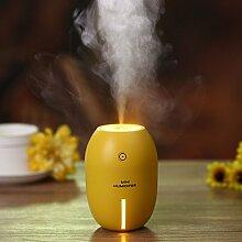 DOXUNGO Zitrone Luftbefeuchter, verstellbares Nachtlicht , tragbare Luftreiniger Zerstäuber 2 Modell Haus, im Auto, Yoga, Büro Yoga und Spa