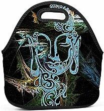 Dozili Brottasche mit buntem Buddha, große und