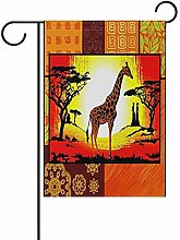 Dozili Gartenflagge Tribal Sonnenuntergang Afrika