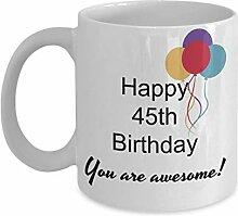 Dozili Lustige Kaffeetasse - Geschenk zum 45.