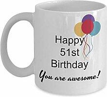 Dozili Lustige Kaffeetasse - Geschenk zum 51sten