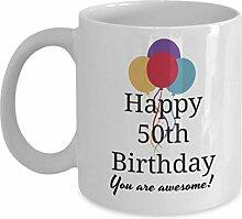 Dozili Lustige Kaffeetasse zum 50. Geburtstag für