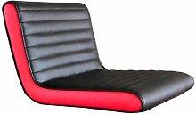 DP griferia 16050–Sitzwürfel, rot/schwarz (Leder)