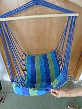 dp.harry17 Holz Hängesessel Sitzschaukel Garten sessel Aufhängen Hängematte Hängestuhl
