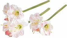 DPI künstliche Amaryllis mit 2 Blüten und 1