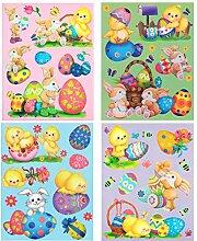 dpr. Fensterbild Set XL Ostern Osterhase Eier