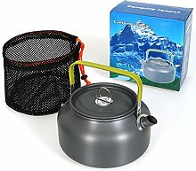 DPZCBH Camping Wasserkocher Outdoor-Tee Teekanne