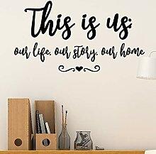 DQGZYF Dies ist Uns zu Hause Englisch