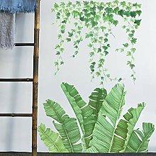 DQGZYF Grüne Pflanze Englisch Wandaufkleber PVC